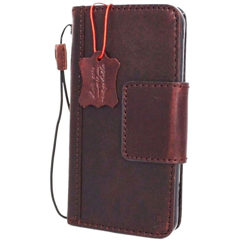 Genuine Italian Leather Case for Samsung Galaxy S7 Plus book wallet luxury rfid pay cover s Business Daviscase