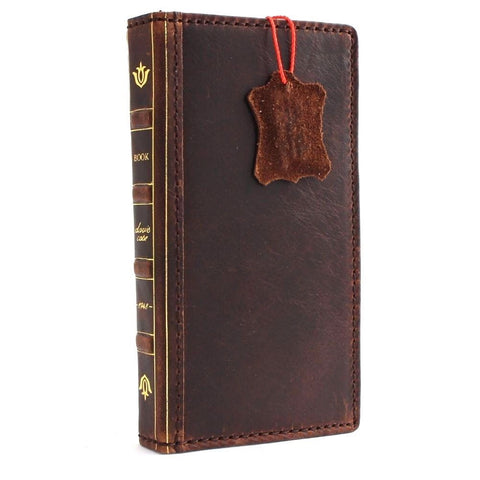 genuine italian leather Case  for Samsung Galaxy S5 active D s 5 SM-G870A book wallet thin bible cover hand made slim brown de daviscase