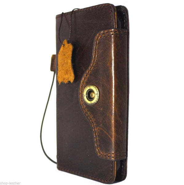 genuine natural leather Case for Samsung Galaxy S6 active book wallet luxury cover s 6  daviscase pro