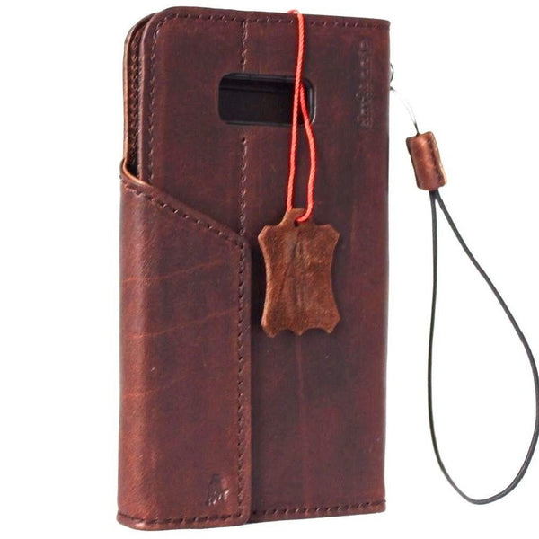genuine handmade oiled leather Case for Samsung Galaxy S8 Plus book wallet retro magnetic