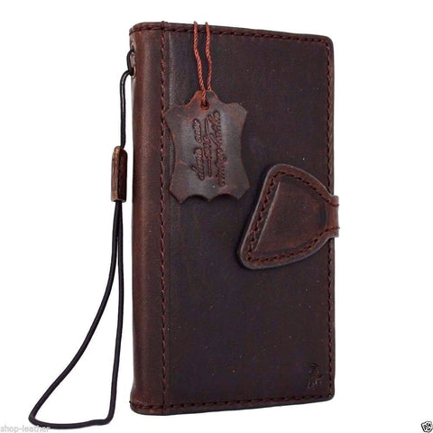 genuine retro leather Case for Samsung Galaxy S5 active s 5 SM-G870A book wallet magnet cover handmade il slim brown daviscase