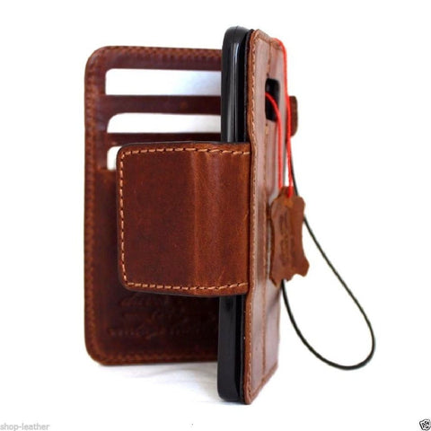 genuine leather Case fIt Samsung Galaxy S7 Edge book wallet handmade cover clous