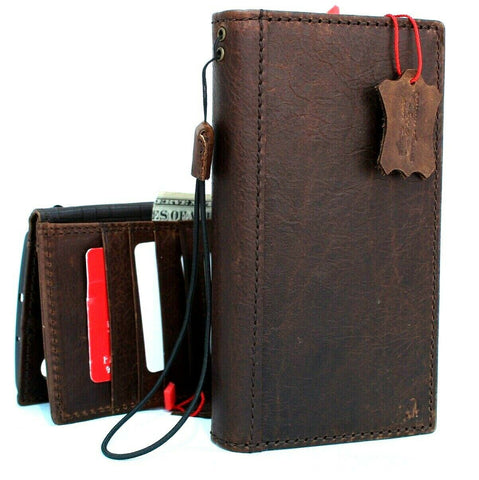 Genuine real leather case for Samsung Galaxy Note 10 Plus book slim holder slots rubber  stand window