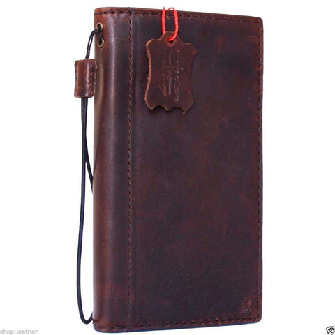 Genuine Italy real leather case for iPhone 6 6s Plus cover book wallet band credit card id business slim flip  uk