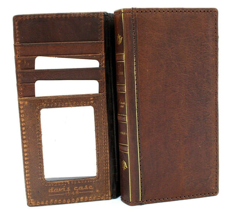 Genuine Real Leather Case for Samsung Galaxy Note 10 Plus bible Book Design Wallet luxury slots rubber stand window art Jafo