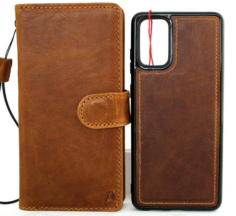 Genuine full leather Case for Samsung Galaxy Note 20 5G book wallet Removable cover Cards window Jafo magnetic stand slim luxury Note 20  Pro