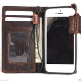 genuine vintage leather case for iphone 5 s stand book wallet credit card 5s itsl free shipping