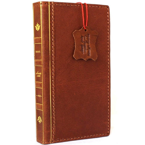 Genuine REAL full leather iPhone 7 plus  case cover bible wallet credit holder book luxury Rfid Pay slim 1948 DavisCase