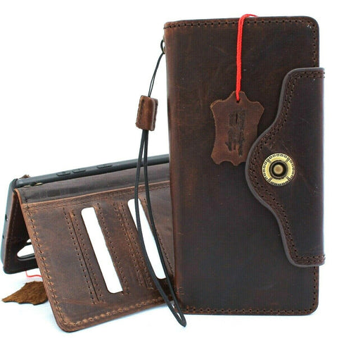 Genuine vintage leather case for samsung galaxy note 10 plus book wallet soft holder slots rubber stand Jafo