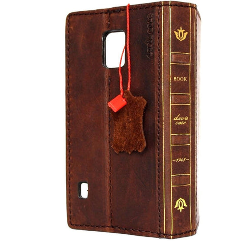 genuine italian leather case fit samsung galaxy s5 hard cover purse pro wallet stand luxury business daviscase