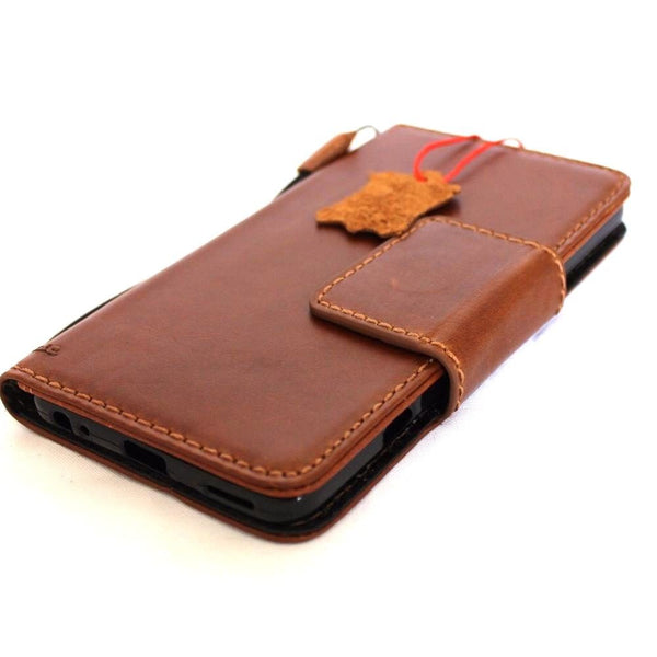 Genuine retro leather Case for LG V20 book wallet magnet cover light brown cards slots slim jafo 48