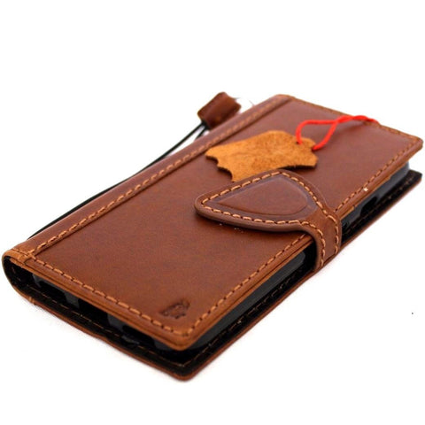 Genuine authentic Leather Case for Google Pixel Book Wallet Handmade vintage magnetic jafo 48