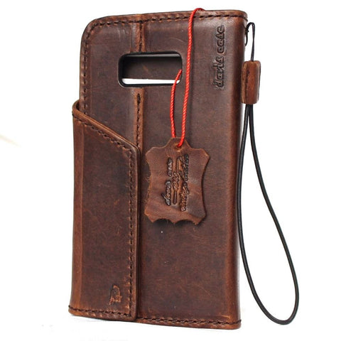 genuine leather Case fit Samsung Galaxy S8 book wallet cover 8 magnetic Closure