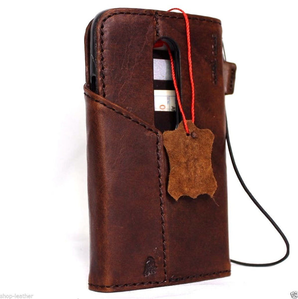 genuine Leather case hard Cover for Motorola Motorola Moto G 3rd gen Wallet Phone skin clip daviscase