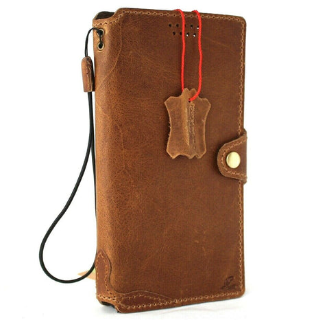 Genuine Top Grain Leather Case for Samsung Galaxy S21 Ultra 5G book wallet handmade rubber holder Tan cover wireless charging Business Daviscase
