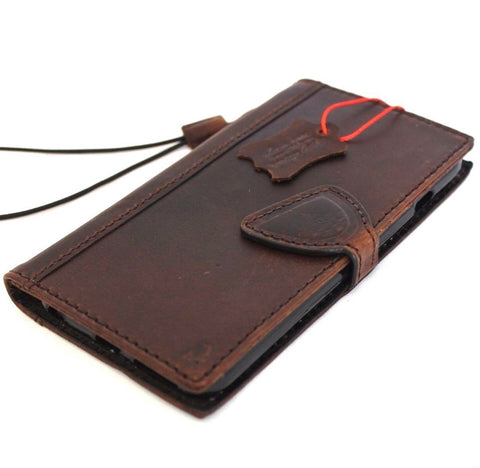 genuine OIL leather case for iPhone 6s Plus cover book wallet band credit card id magnet business slim magnet  JP daviscase