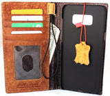 Genuine real leather Case for Oppo R11 book wallet cover Cards slots id cover hand made Art vintage brown slim daviscase