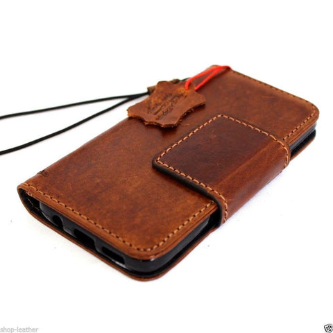 genuine handmade leather Case for Samsung Galaxy S7 Edge book wallet high quality