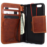 Genuine italian leather iPhone 6 6s vintage handmade case cover with wallet credit holder luxury