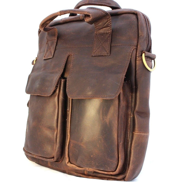 Genuine natural Leather Shoulder Satchel Bag handbag woman mans 11 12 laptop 10 daviscase  1948 mini