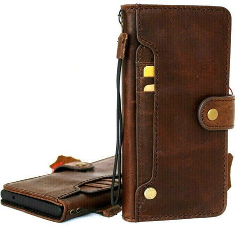 Genuine Leather Case for Google Pixel 4a 5G Book Wallet Full holder Retro Stand Luxury IL Davis 1948 5G