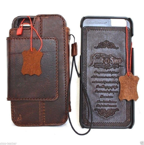 Genuine full Leather Case for iPhone SE 2 2020 Cover Book Wallet Cards Magnetic Slim Davis Classic Art detachable dark