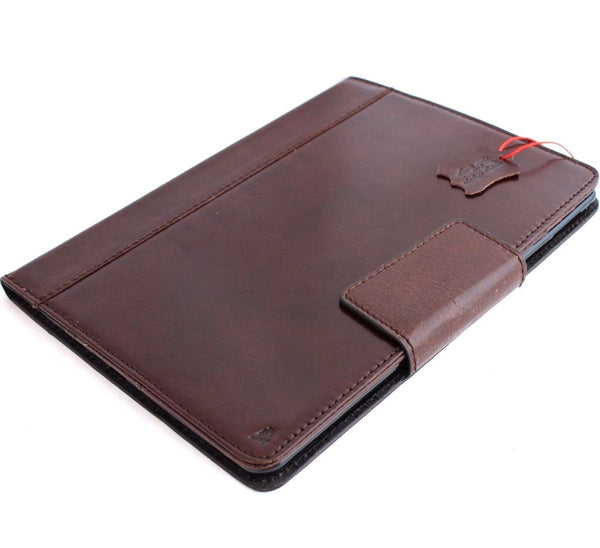 Genuine full Leather case case for Apple iPad Pro 9.7 (2016) hard cover handbag stand magnet brown cards slots slim luxury Daviscase