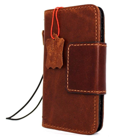 Genuine Full Leather Case for Iphone SE 2 2020 Cover Book Wallet Cards Magnetic Slim Davis Cassic Art Wireless Charging Lite SE2