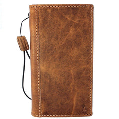 Genuine real leatherfor apple  iPhone x case cover wallet credit holder book tan luxury slim davis b26