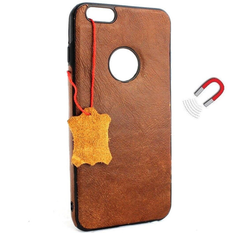 Genuine leather case for  iPhone 8 plus magnetic cover wallet slim rubber holder luxury Jafo