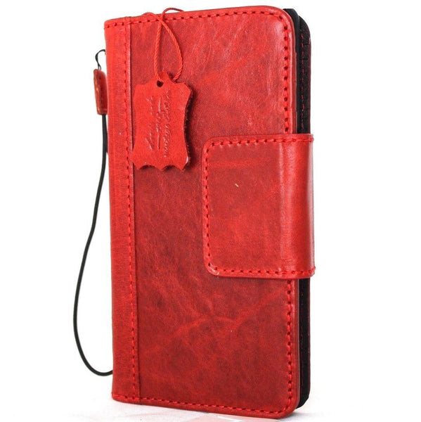 Genuine real leather case for samsung galaxy note 10 book wallet cover magnetic luxury flip rubber red strap