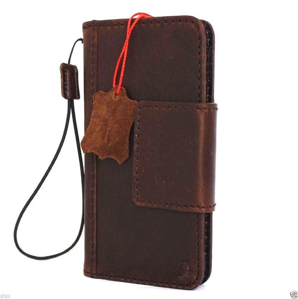 Genuine italian leather iPhone 6 6s safe case cover with wallet credit holder safe magnetic
