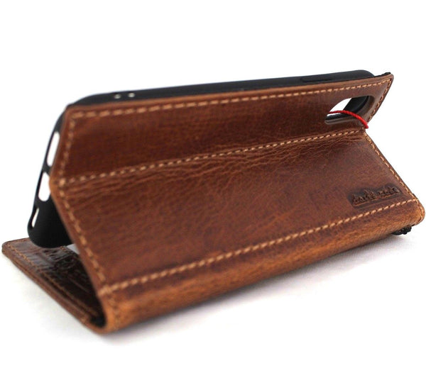 Genuine leather for apple iPhone XS case cover wallet credit cards soft holder book prime vintage slim daviscase design