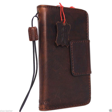 genuine vintage  leather case for nokia lumia 950 xl cover book wallet credit card magnet luxurey daviscase