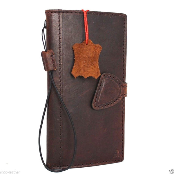 genuine Leather case hard Cover for Motorola Nexus 6 Pouch Wallet Phone skin magnet close clip daviscase