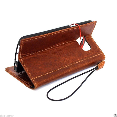 genuine leather Case for Samsung Galaxy S7 book wallet handmade cover s Businesse jafo 48 Art high quality