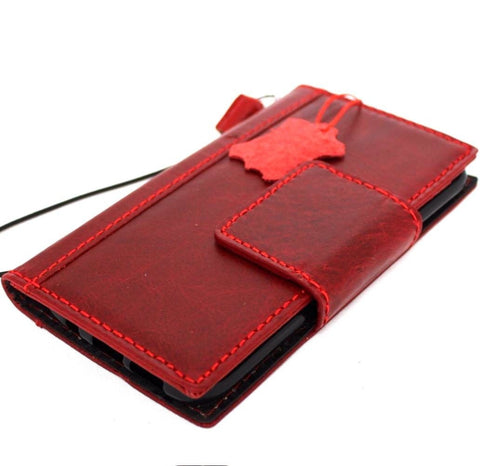Genuine 100% real leather Case for Samsung Galaxy S7 book wallet luxury cover Businesse jafo 48 design wine Red