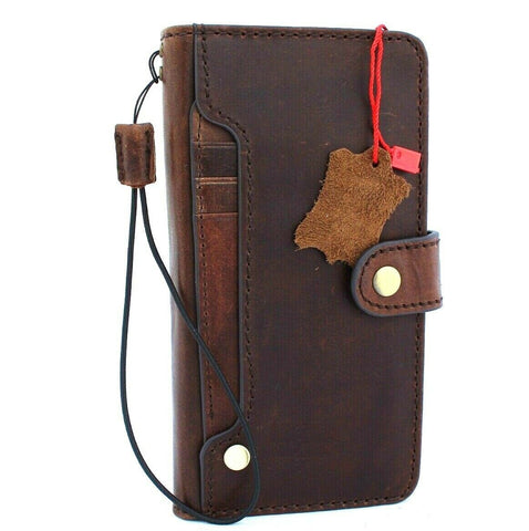 Genuine Real Leather Case for Google Pixel 4 XL Book Wallet Handmade holder Retro closure Luxury IL Davis 1948 oiled