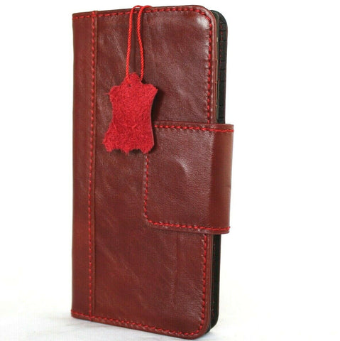 Genuine Red Leather Case For Samsung Galaxy Note 20 Ultra 5G Book Wallet Magnetic Closure Cover Card slots Soft Holder Slim Jafo