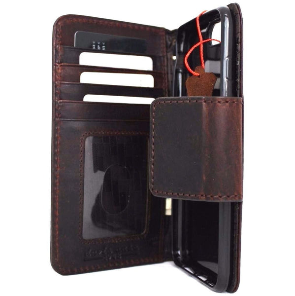 Genuine REAL leather iPhone 7 plus magnetic case cover wallet credit holder book luxury Rfid Pay