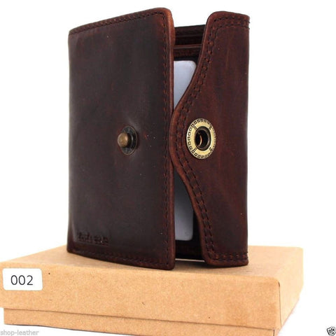 Men's Full Leather Wallet 6 Credit Card Slots 2 id Windows 2 Bill Compartments brown daviscase