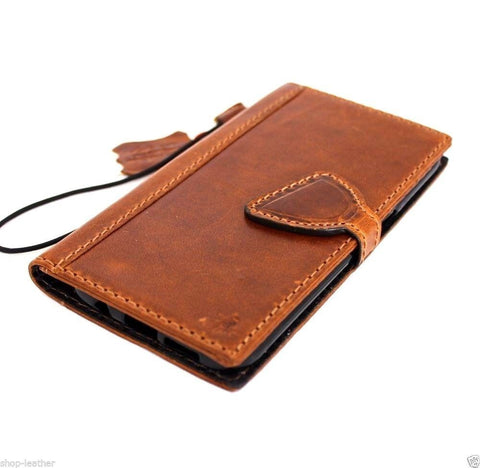 genuine handmade leather Case for Samsung Galaxy S7 Edge book wallet cover magnet D jafo 48 design