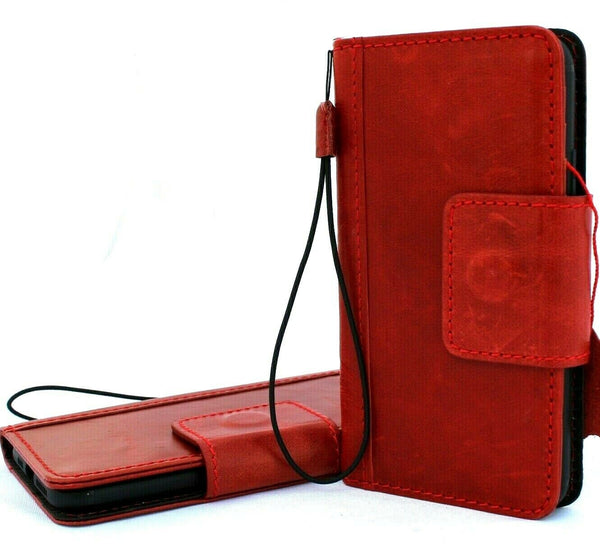 Genuine full leather case for Apple iPhone 11 Pro Max cover wallet flip credit holder book prime Jafo luxury Magnetic red