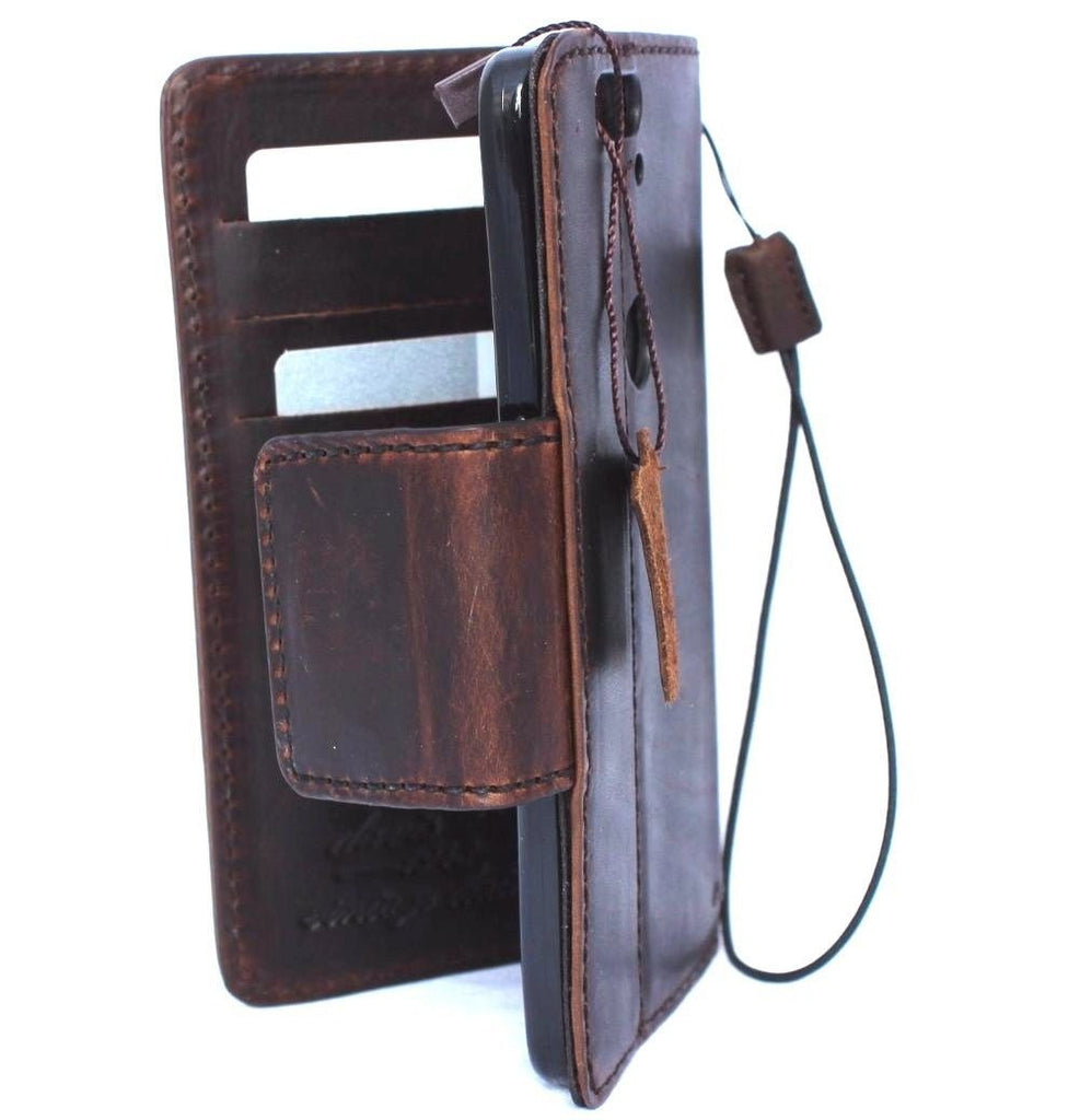 brand new 461a9 27171 Genuine Real Leather Case for Google Pixel 2 Book Wallet Handmade magnetic  Retro Luxury IL slim Davis