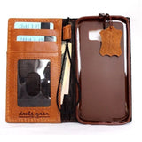 genuine leather Case for Samsung Galaxy S6 book wallet luxury cover slim luxury