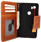 Genuine Full Tanned Leather Case for Google Pixel 2 XL Book Wallet Handmade Retro Luxury holder magnetic closure  IL Davis