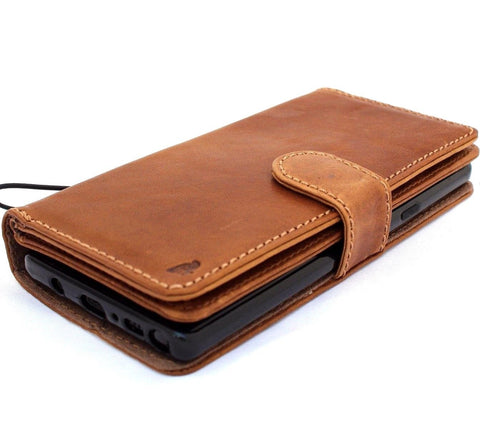 Genuine leather case for samsung galaxy note 9 book wallet cover soft vintage detachable cards slots slim magnetic holder daviscase