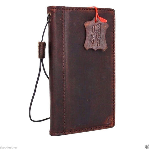 genuine leather fit LG Nexus 5 google Case book wallet handmade slim cover daviscase