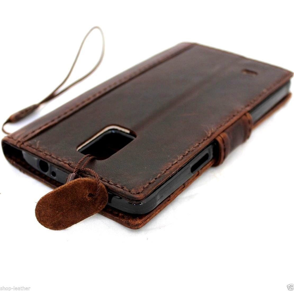 new product 0dba8 6a085 genuine vintage leather Case For Samsung Galaxy Note 3 book wallet magnet  cover slim handmade brown art daviscase