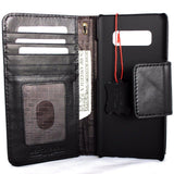 Genuine vintage leather case for Samsung Galaxy NOTE 8 book wallet magnetic closure black cover cards slots slim Daviscase bm
